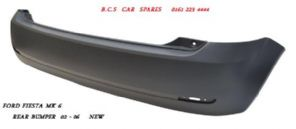 FORD FIESTA MK 6  REAR  BUMPER   2002  2003  2004      NEW  NEW    ( SINGLE PIECE TYPE )